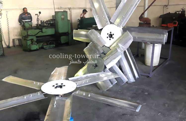 فن محوری برج خنک کننده